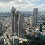 空から見た新宿