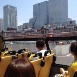 スカイバスから東京駅を眺める