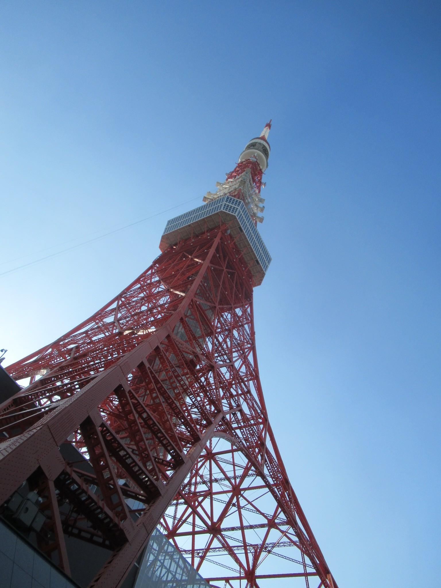 スカイバスから見上げる東京タワー