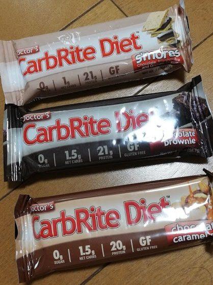CarbRite Dietのプロテインバーたち