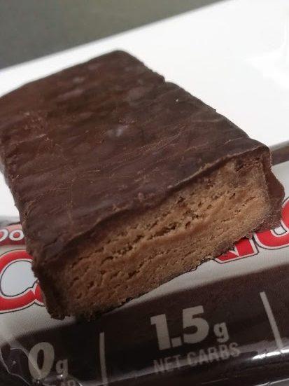 CarbRiteDietのチョコブラウニー断面