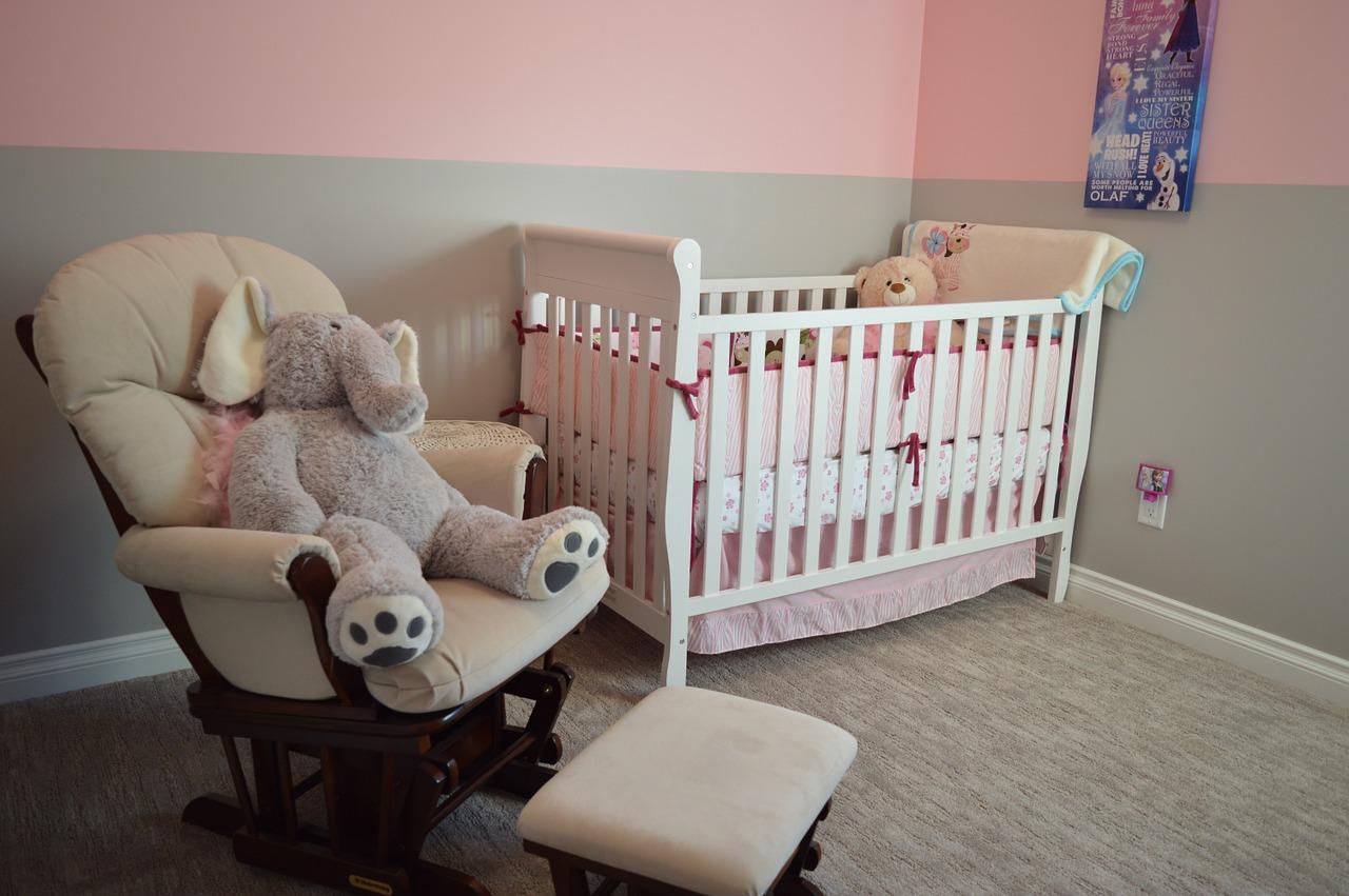 赤ちゃんがいる部屋の様子