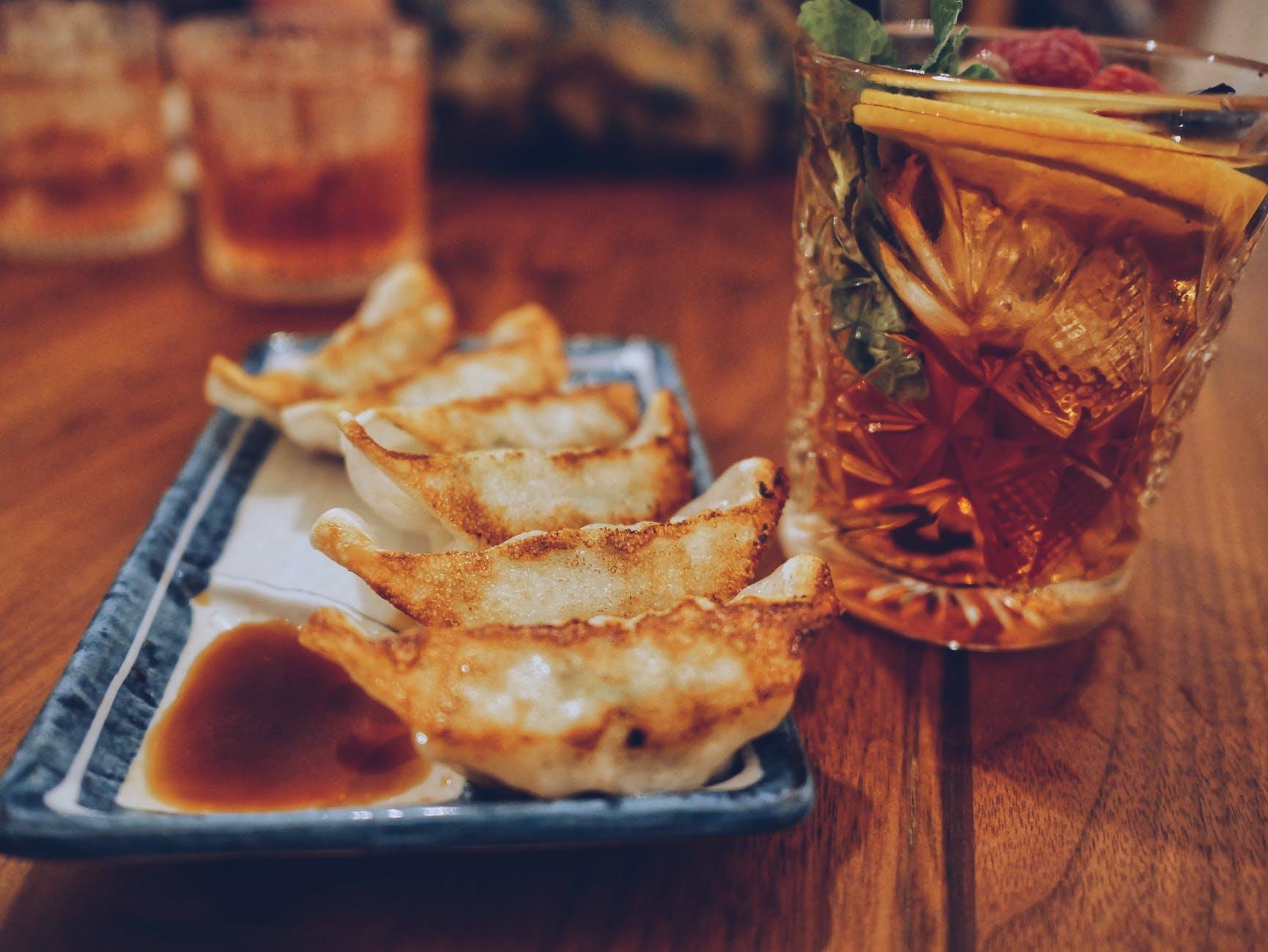 餃子とお酒
